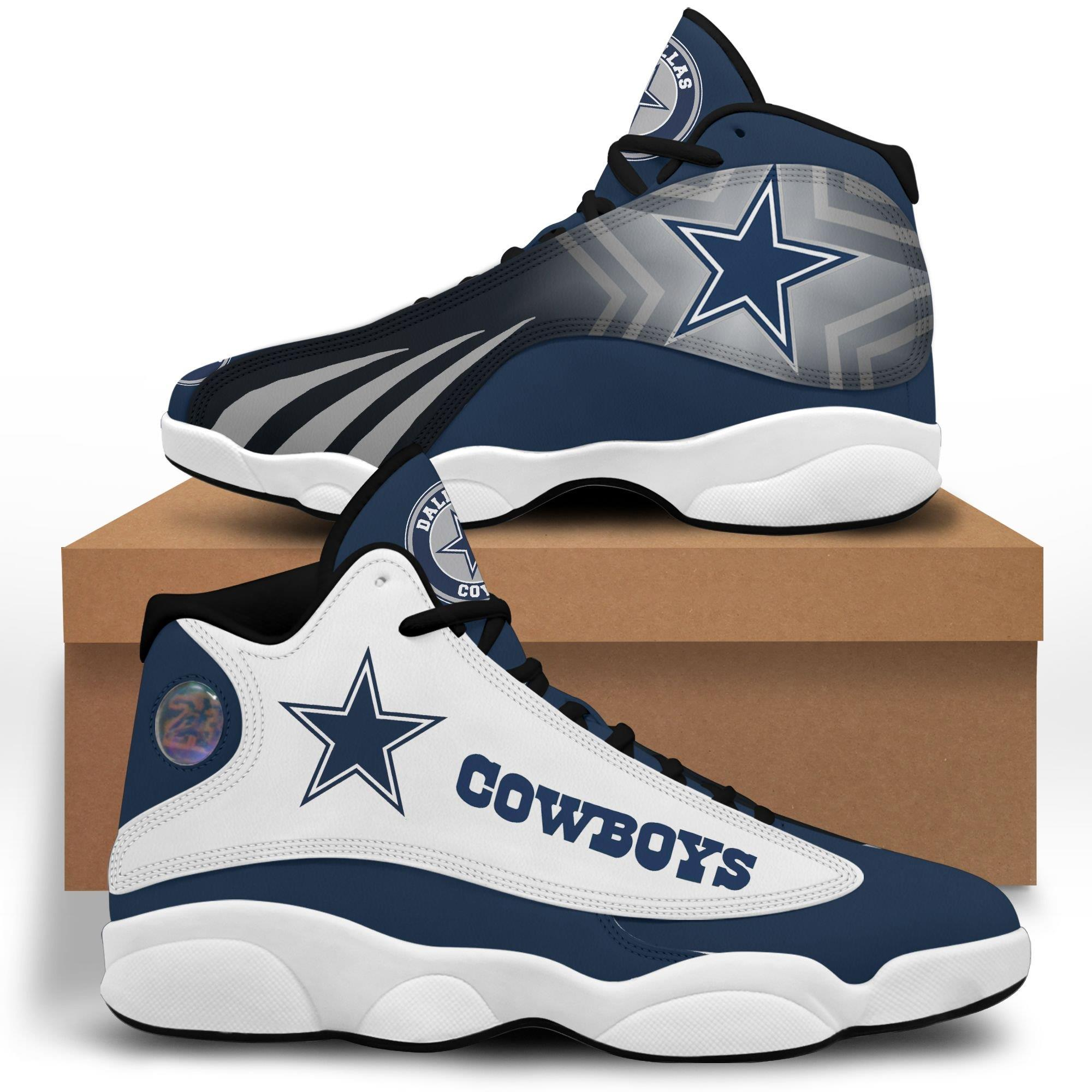 Dallas Cowboys Air Jordan 13 Custom Sneakers Shoes Sport