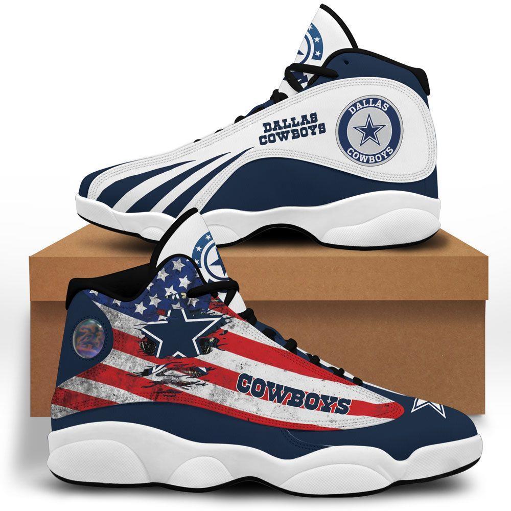Dallas Cowboys Air Jordan 13 Custom Sneakers Sport Shoes Full Size