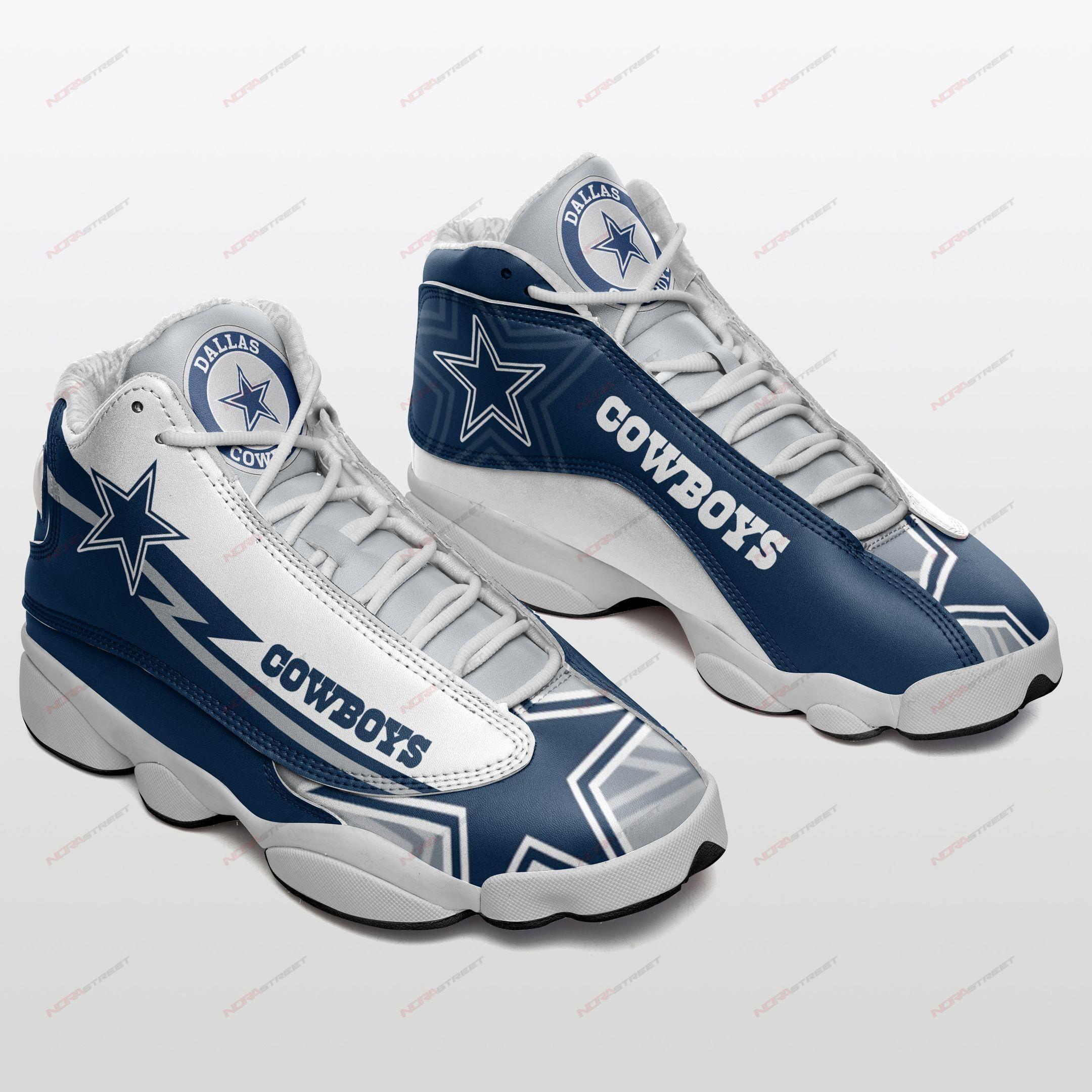 Dallas Cowboys Air Jordan 13 Sneakers Sport Shoes Plus Size