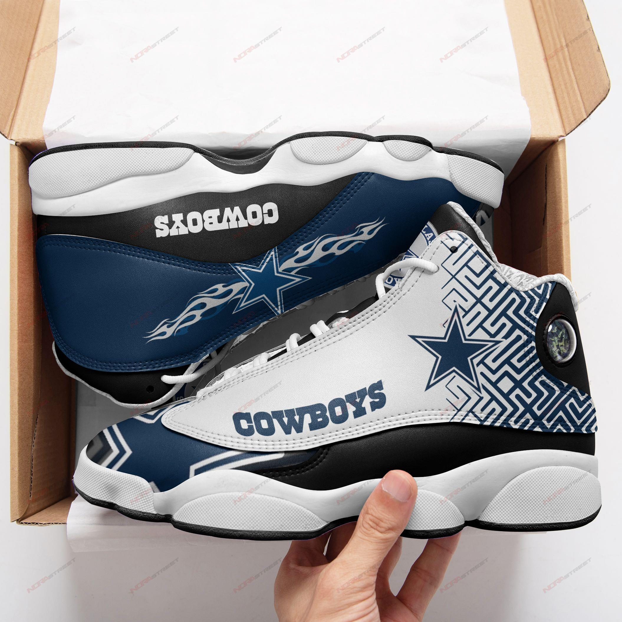 Dallas Cowboys Air Jordan 13 Sneakers Sport Shoes Full Size