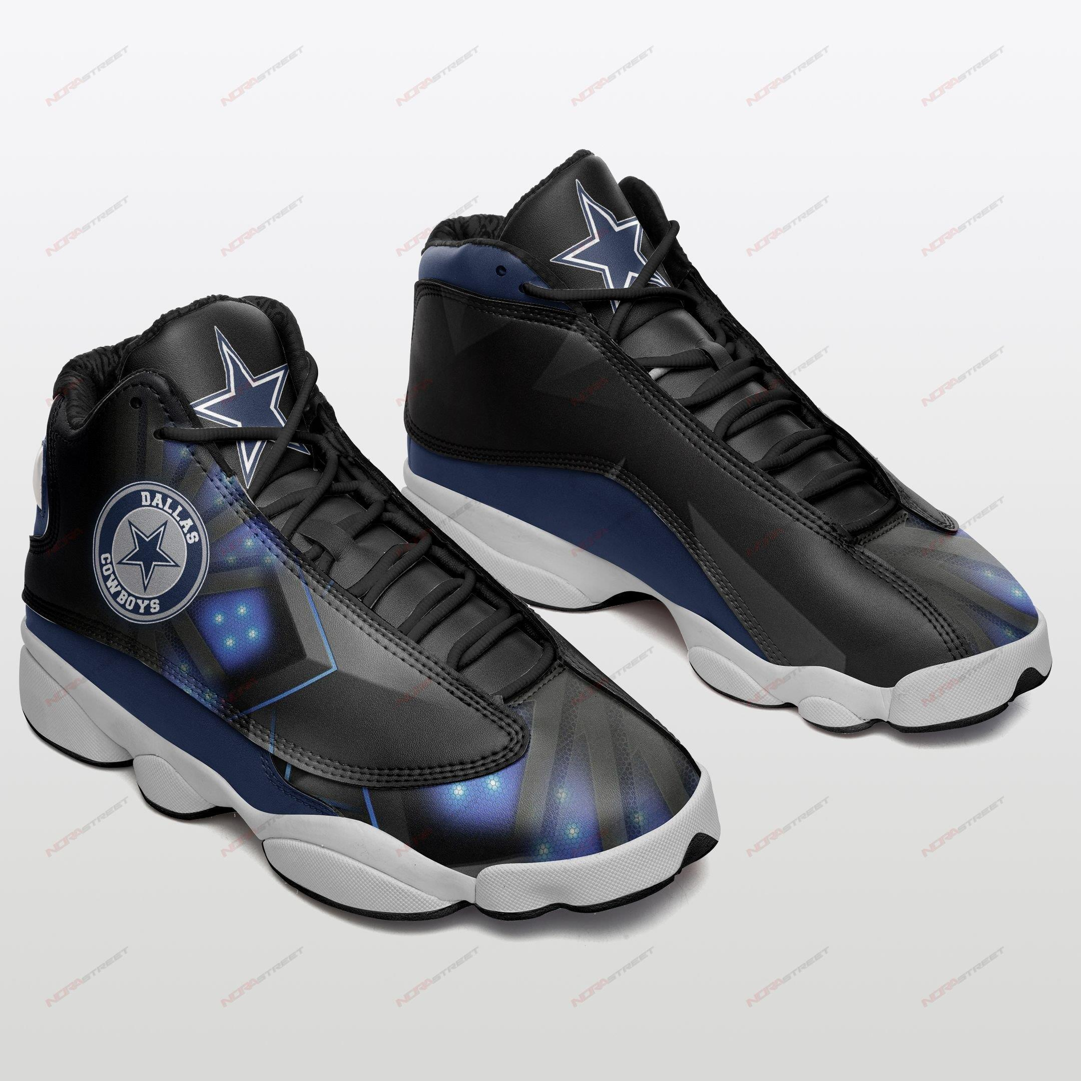 Dallas Cowboys Air Jordan 13 Sneakers Sport Shoes Plus Size