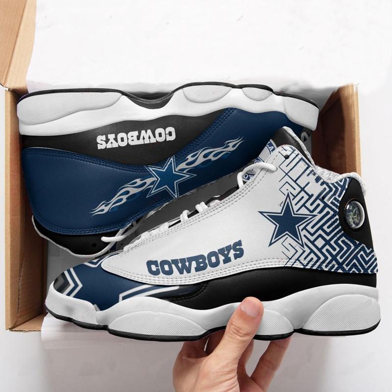 Dallas Cowboys Football Team Form Air Jordan 13 Sneakers Sport Shoes Full Size