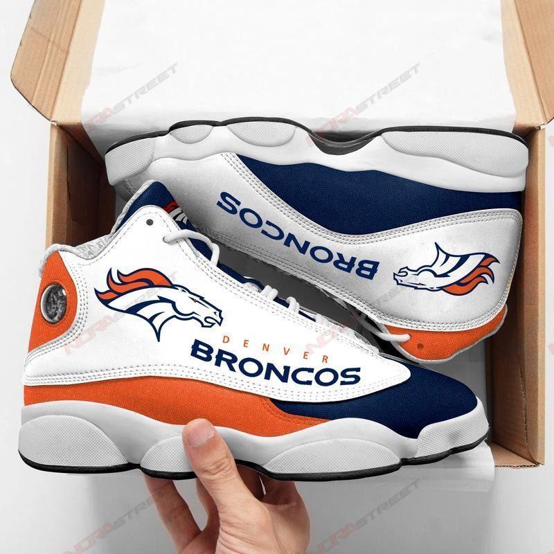 Denver Broncos Air Jordan 13 Sneakers Sport Shoes