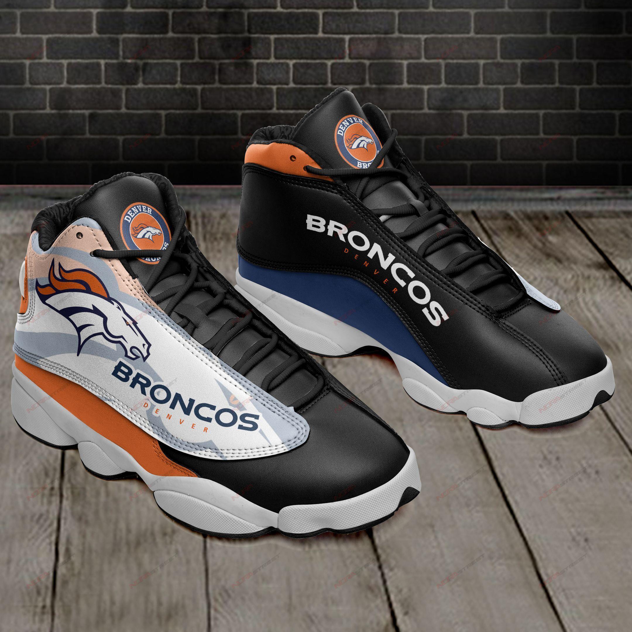 Denver Broncos Air Jordan 13 Sneakers Sport Shoes Plus Size