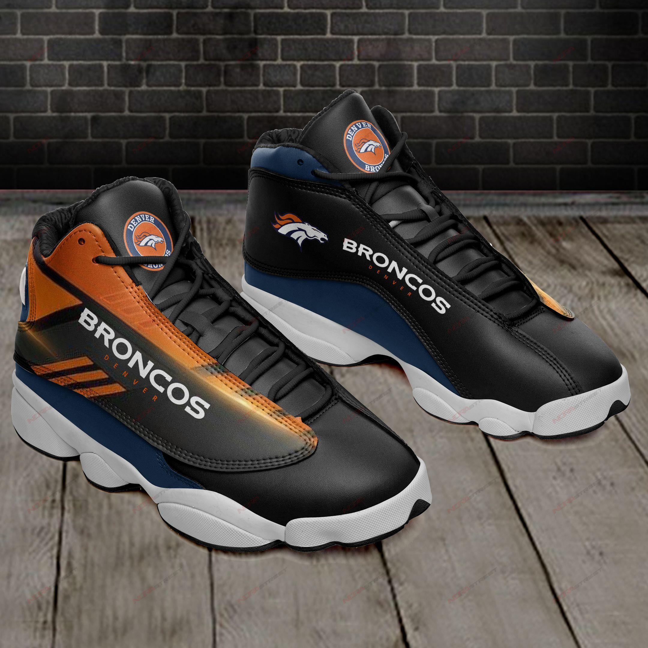 Denver Broncos Air Jordan 13 Sneakers Sport Shoes