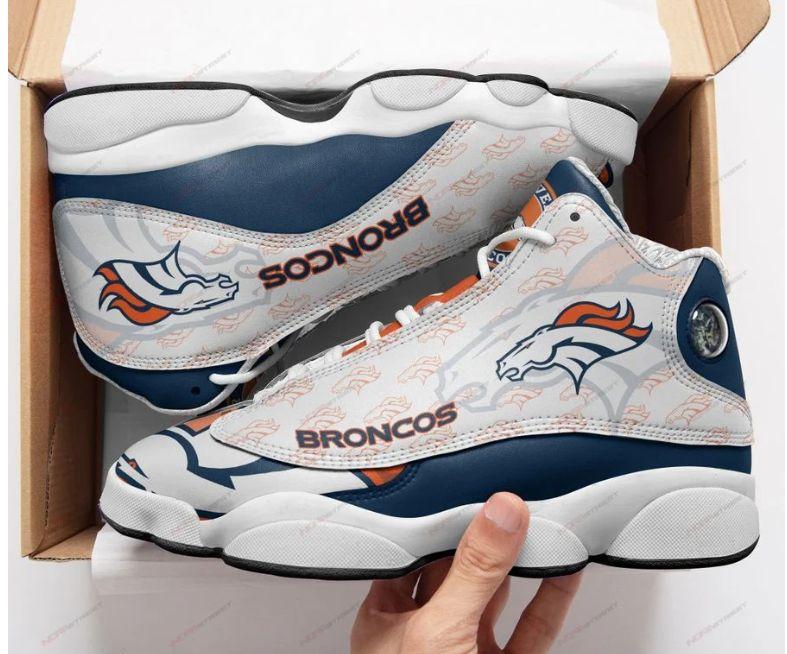 Denver Broncos Team Form Air Jordan 13 Sneakers Sport Shoes Full Size