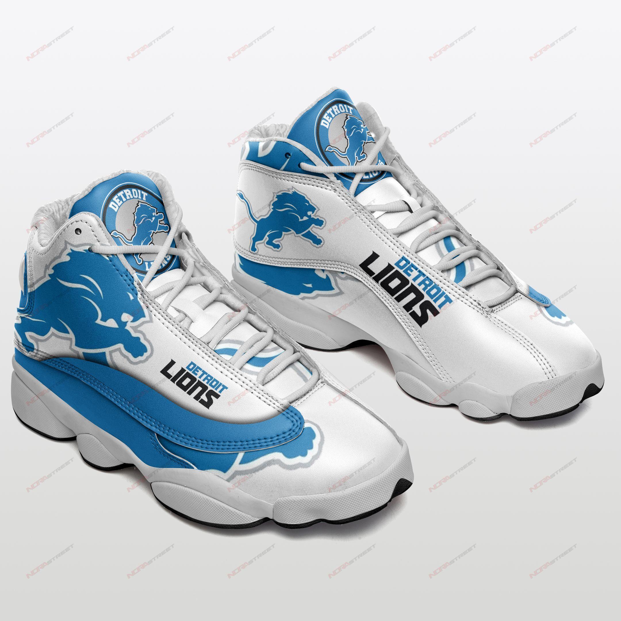 Detroit Lions Air Jordan 13 Sneakers Sport Shoes Full Size