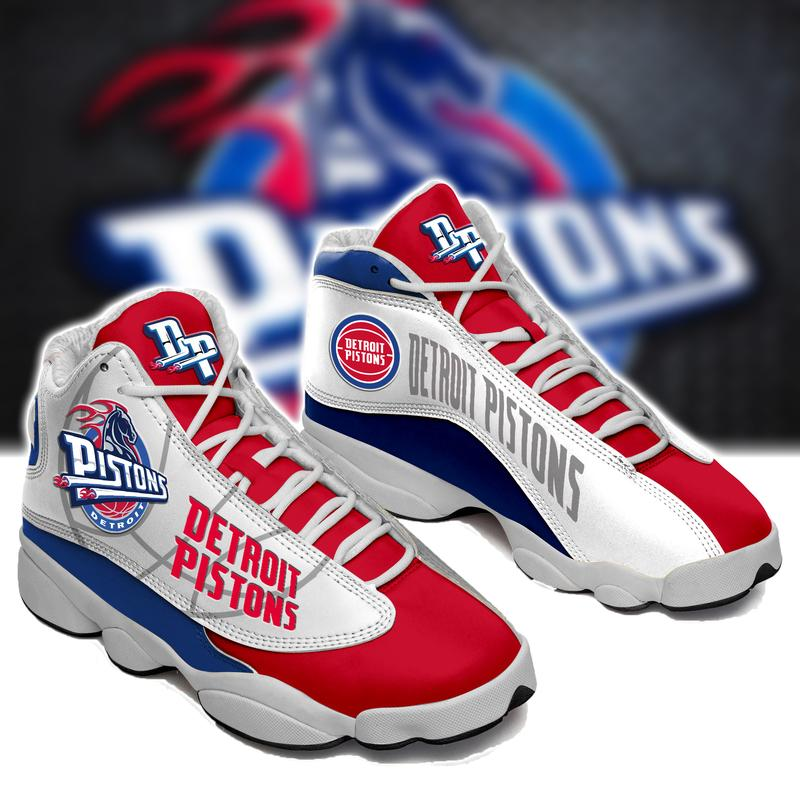 Detroit Pistons Form Air Jordan 13 Basketball Sneakers Sport Shoes Full Size