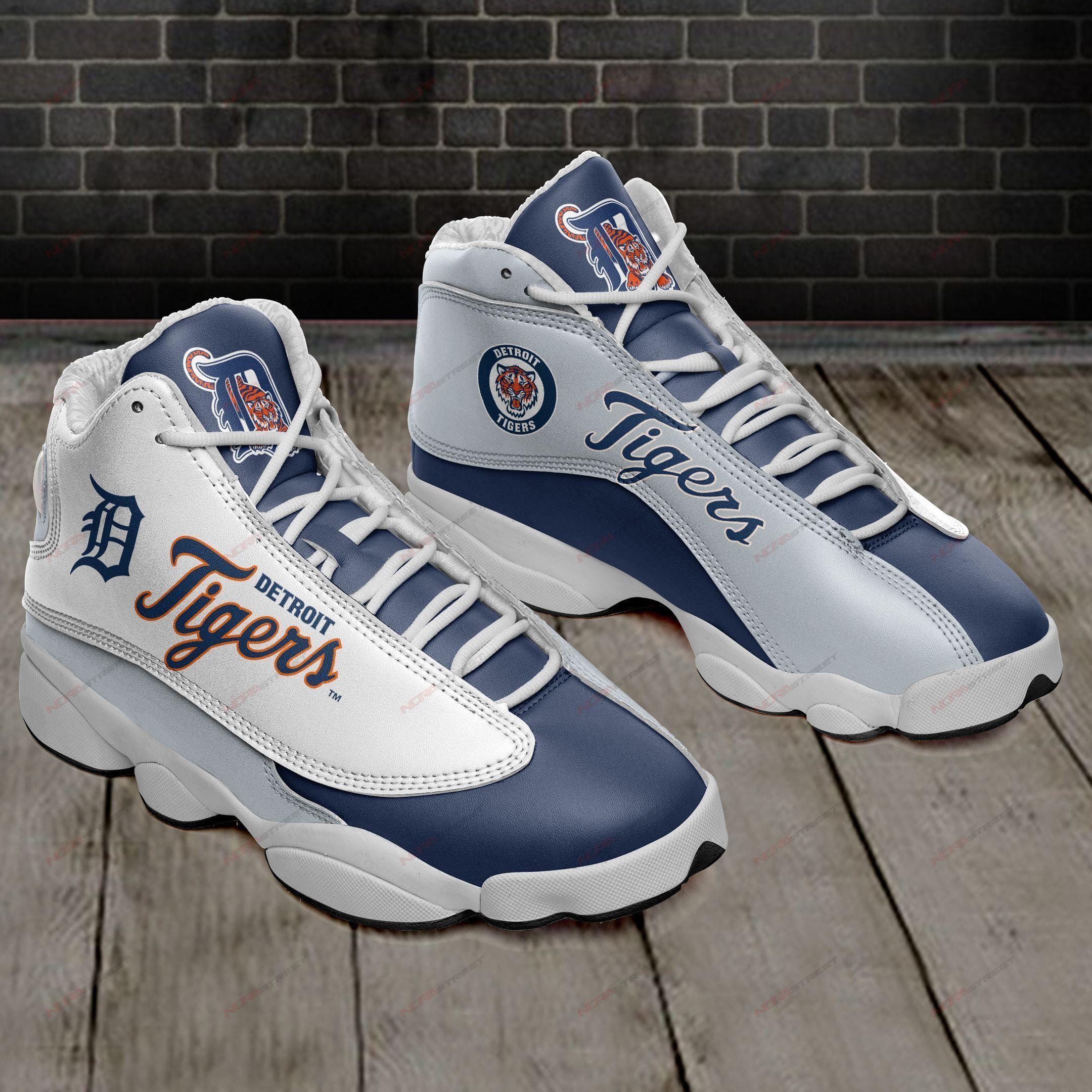 Detroit Tigers Air Jordan 13 Sneakers Sport Shoes Full Size