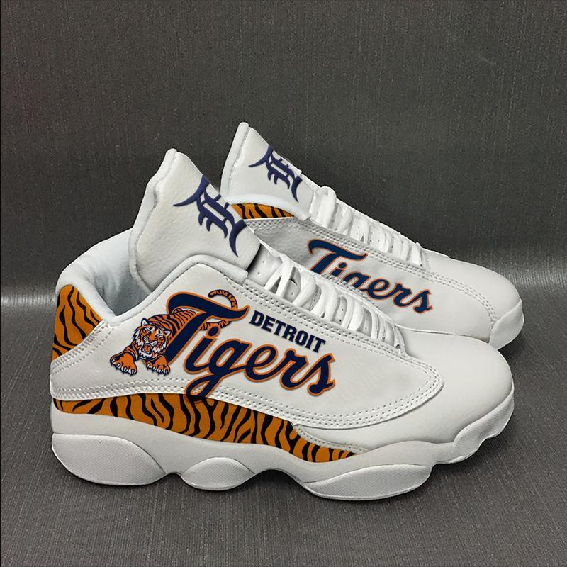 Detroit Tigers Baseball Team Form Air Jordan 13 Sneakers Sport Shoes Full Size