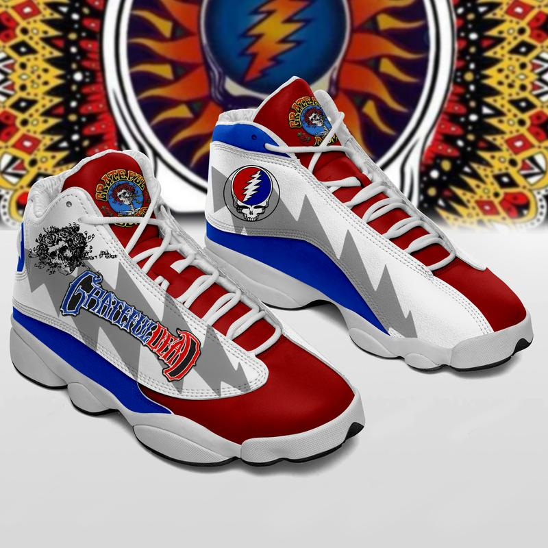 Grateful Dead Form Air Jordan 13 Sneakers Sport Shoes Plus Size
