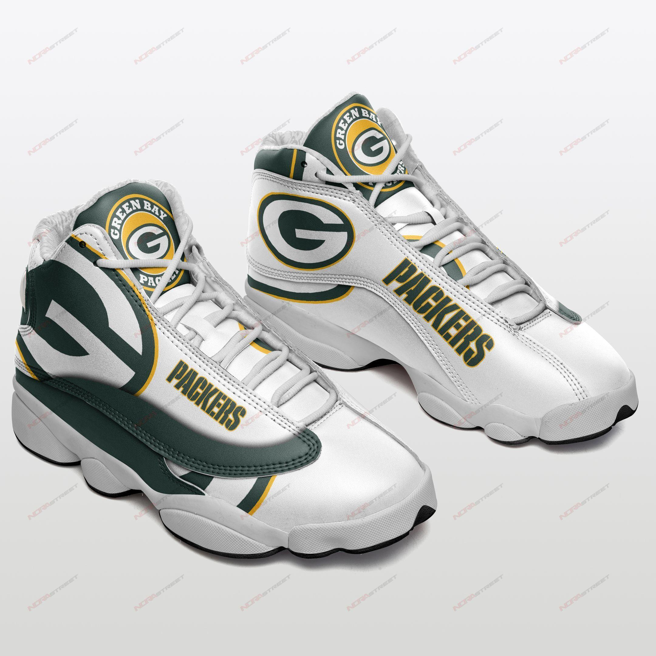 Green Bay Packers Air Jordan 13 Sneakers Sport Shoes Full Size