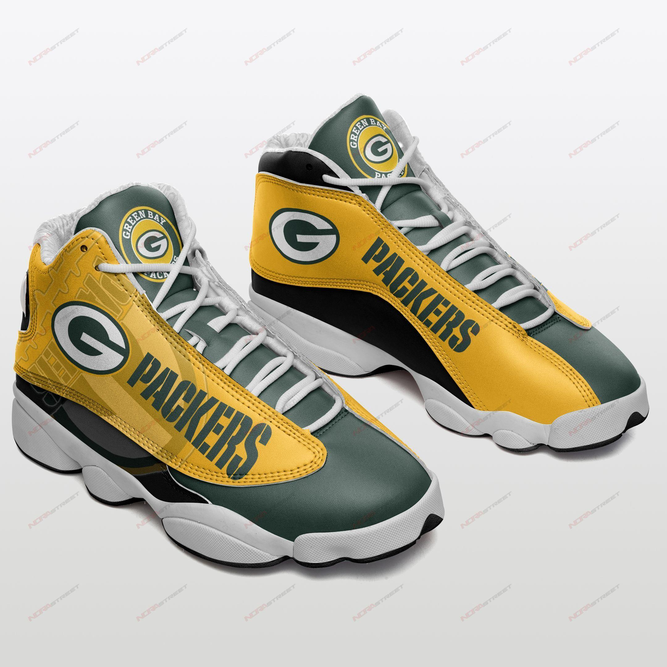Green Bay Packers Air Jordan 13 Sneakers Sport Shoes