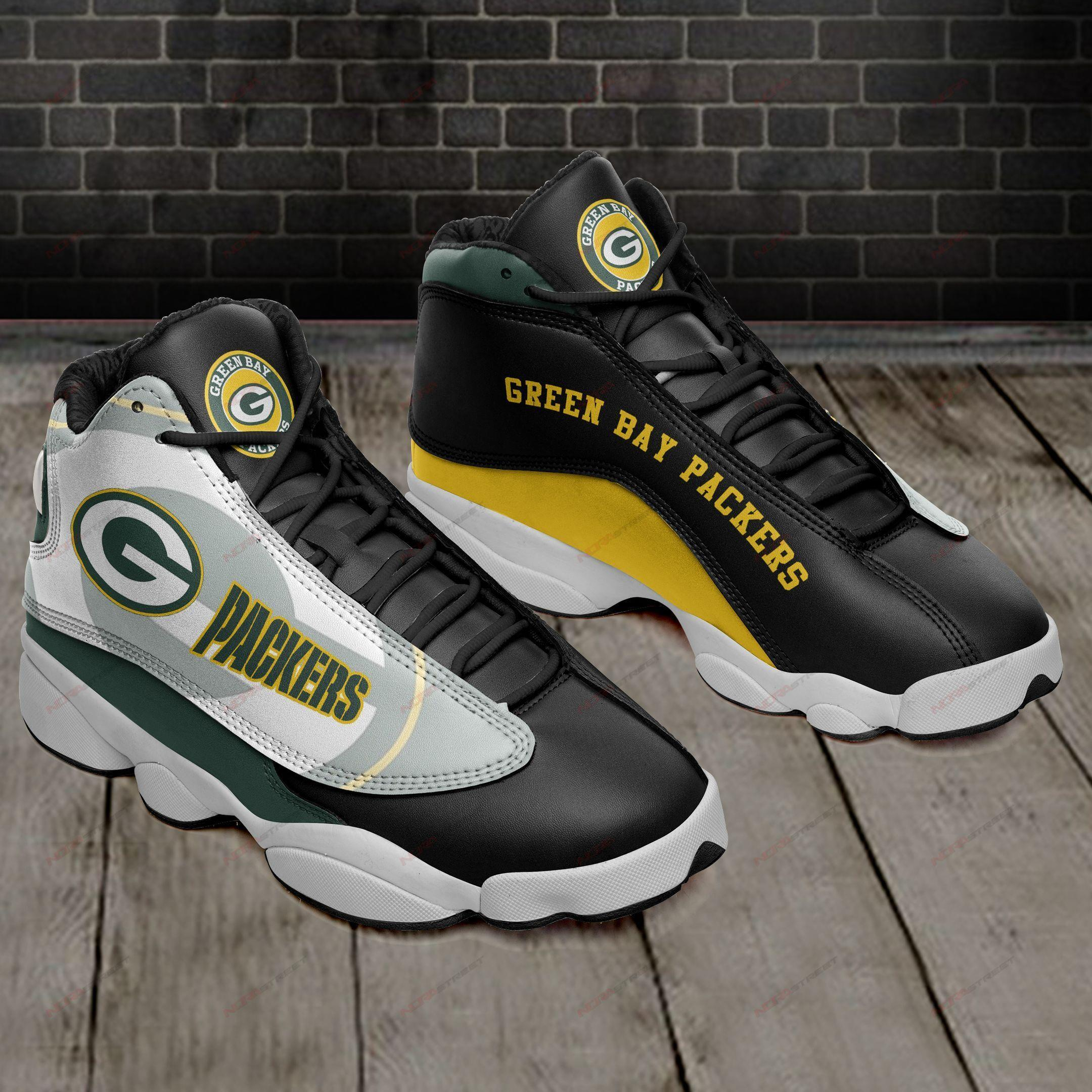 Green Bay Packers Air Jordan 13 Sneakers Sport Shoes