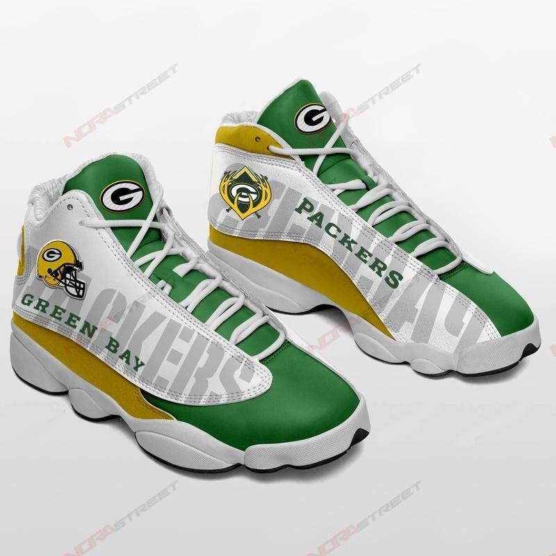 Green Bay Packers Air Jordan 13 Sneakers Sport Full Size