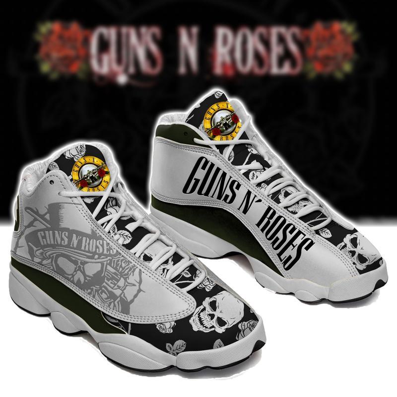 Guns N Roses Rock Band Form Air Jordan 13 Sneakers Sport Shoes Plus Size