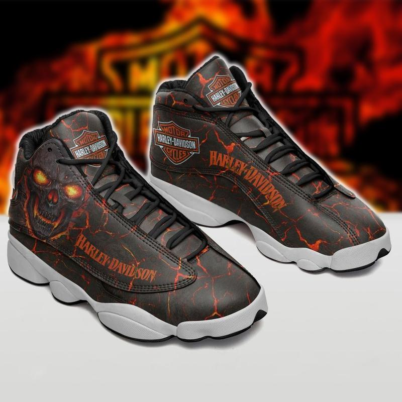 Harley Davidson form Air Jordan 13 Sneakers Sport Shoes