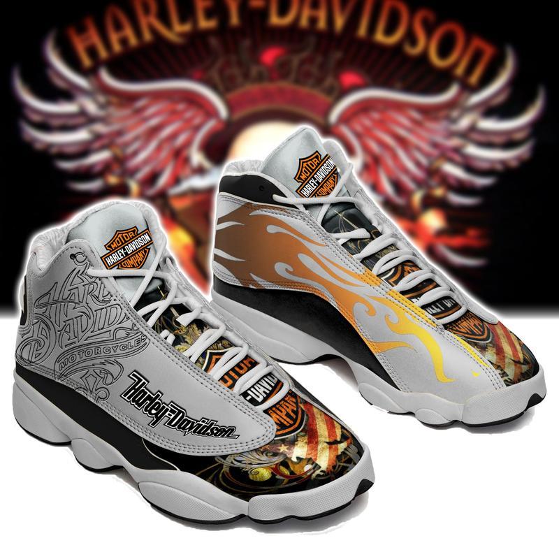 Harley Davidson Form Air Jordan 13 Sneakers Shoes