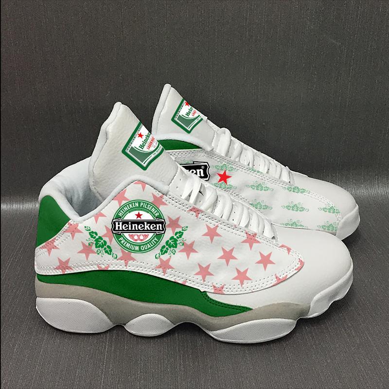 Heineken Beer 2 Form Air Jordan 13 Sneakers Sport Shoes Plus Size
