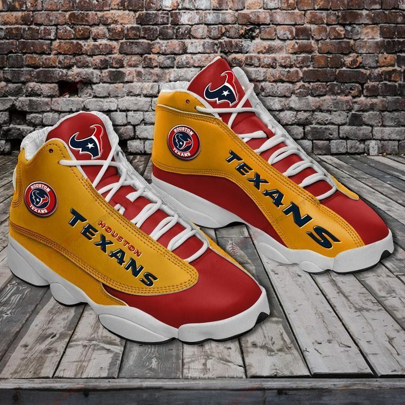 Houston Texans Air Jordan 13 Sneakers Sport Shoes Plus Size