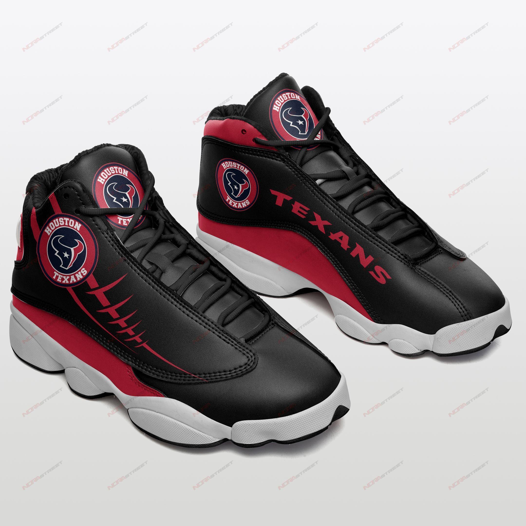 Houston Texans Air Jordan 13 Sneakers Sport Shoes Plus Size