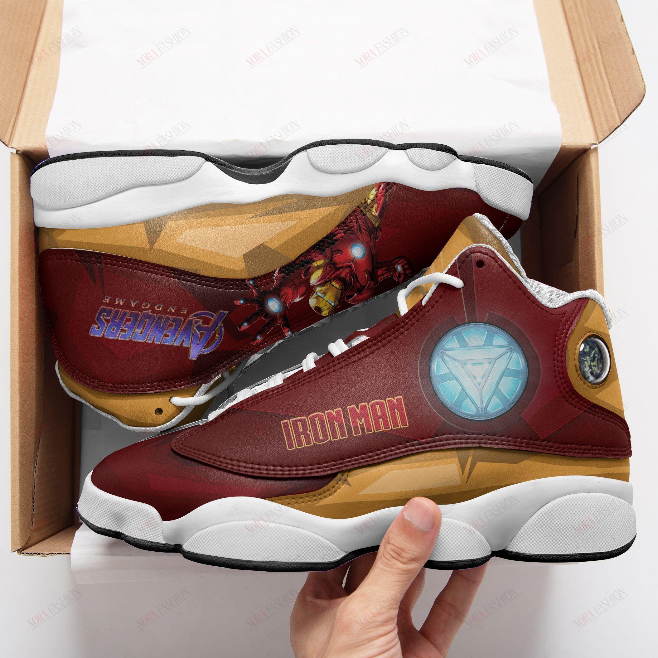 Iron Man Air Jordan 13 Sneakers Sport Shoes
