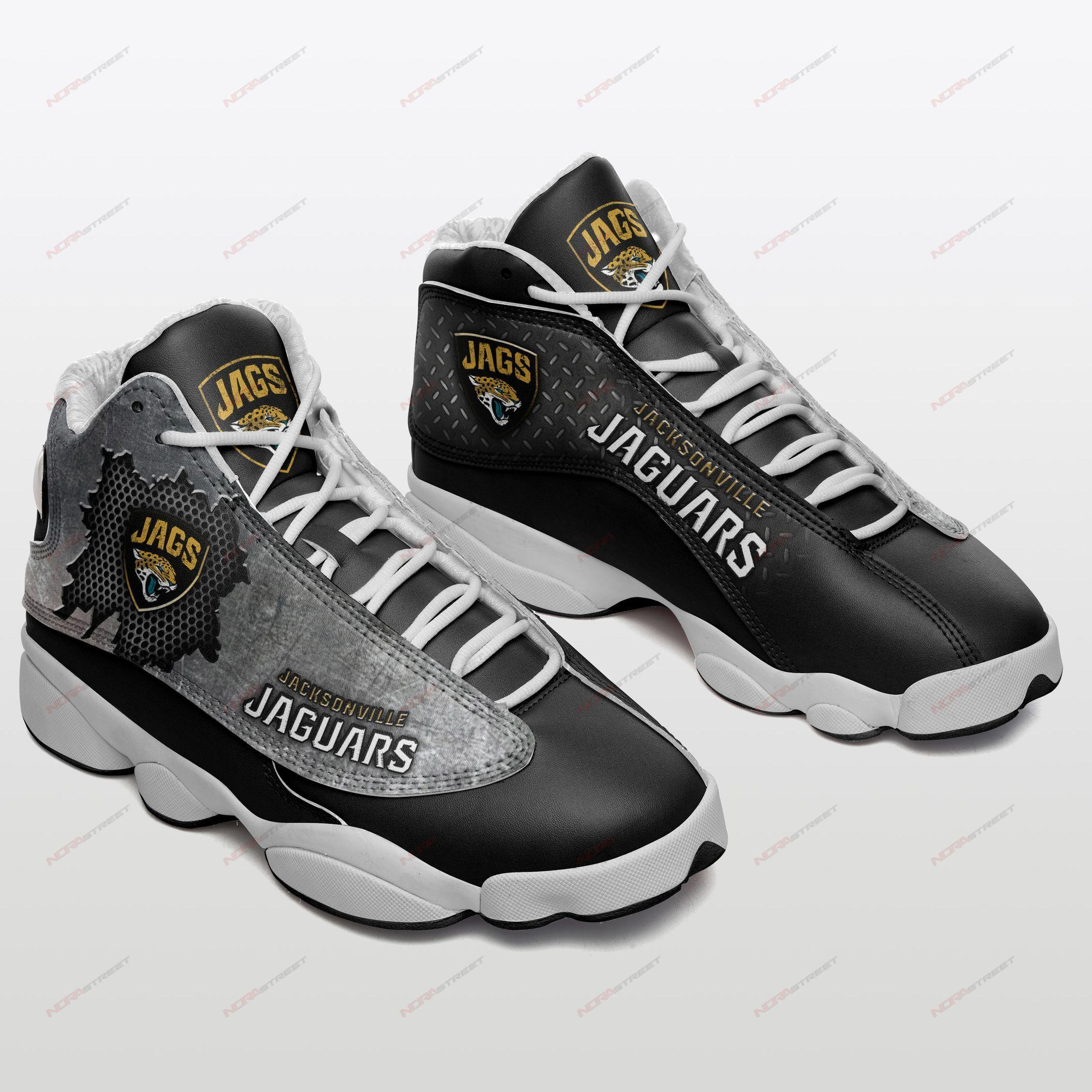 Jacksonville Jaguars Air Jordan 13 Sneakers Sport Shoes Full Size