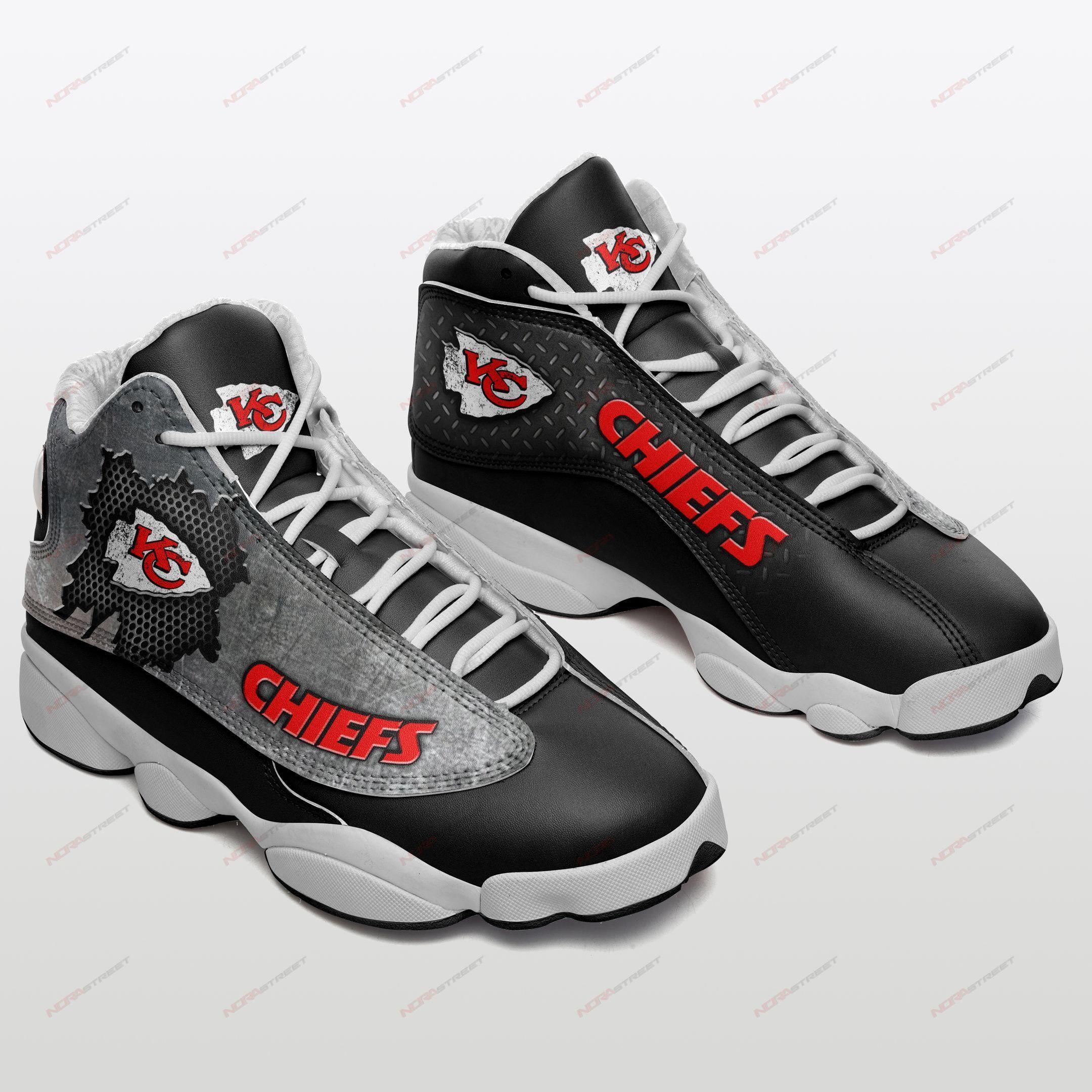Kansas City Chiefs Air Jordan 13 Sneakers Sport Shoes Full Size