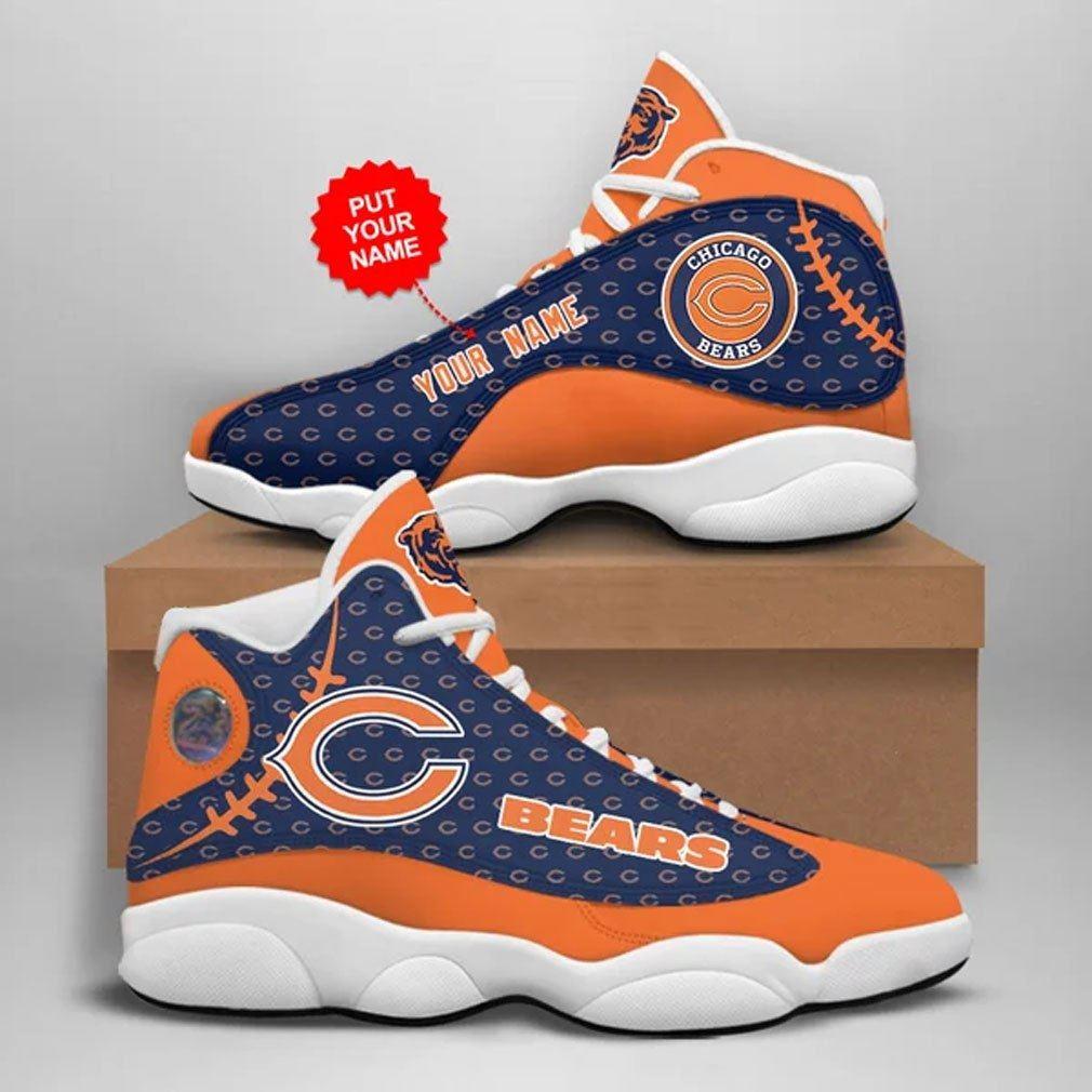Personalized NFL Chicago Bears Jordan 13 Sneaker Sport Shoes
