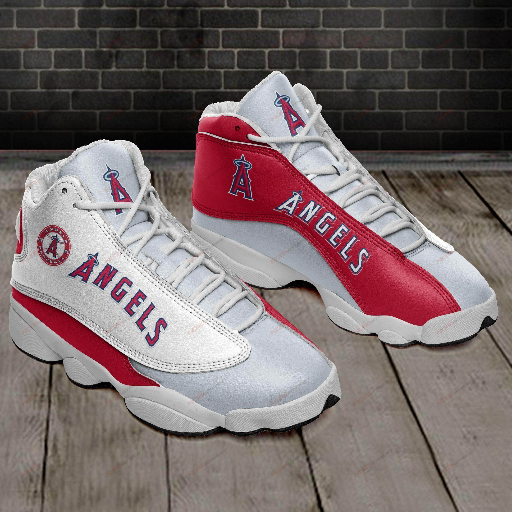 Los Angeles Angels Of Anaheim Air Jordan 13 Sneakers Sport Shoes Full Size