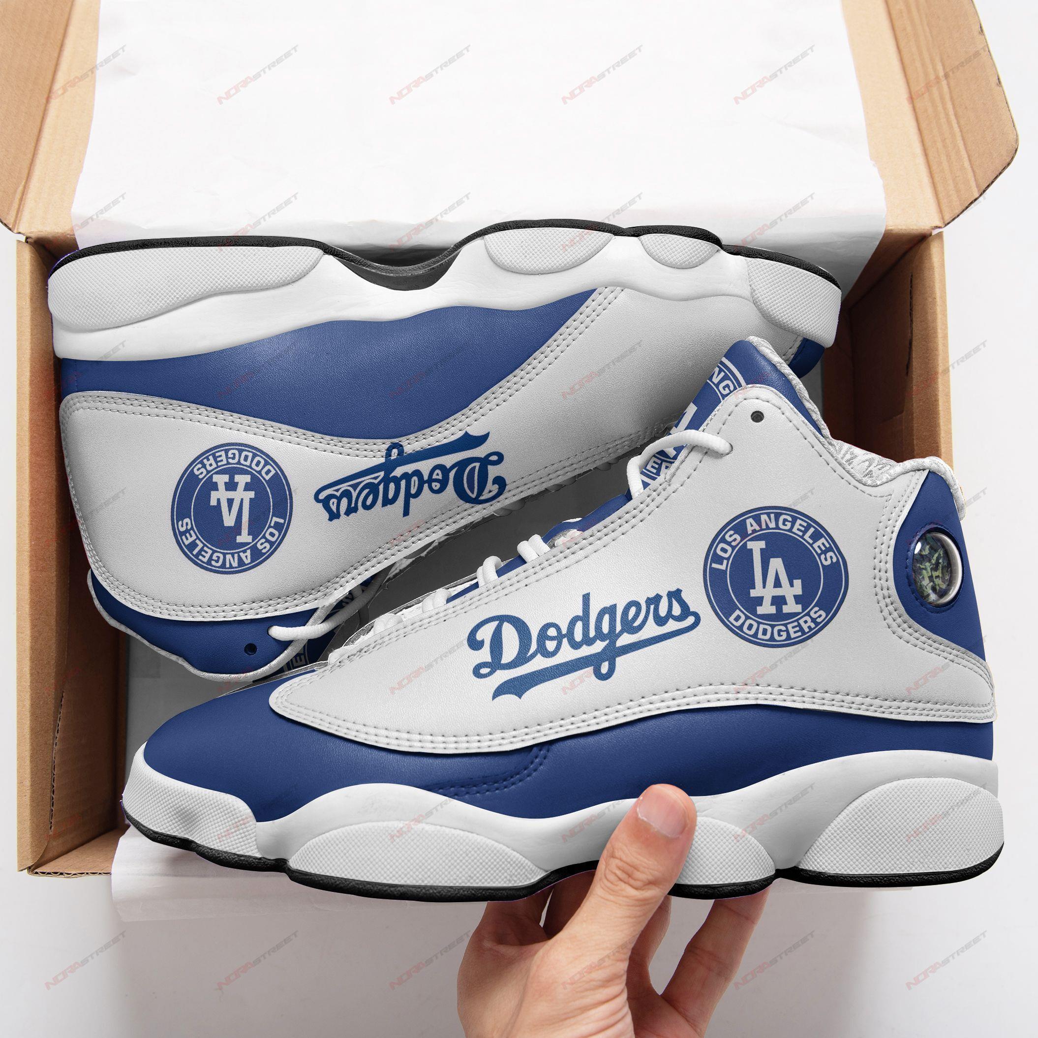 Los Angeles Dodgers Air Jordan 13 Sneakers Sport Shoes Full Size