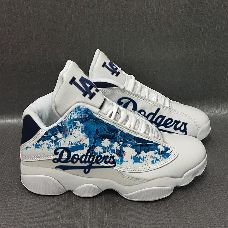 Los Angeles Dodgers Baseball Team Form Air Jordan 13 Sneakers