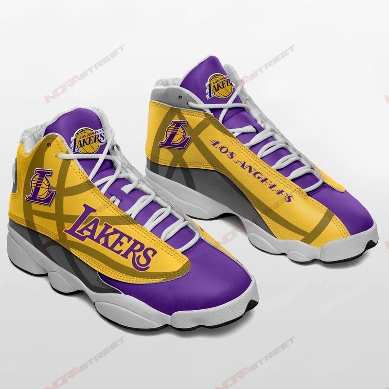 Los Angeles Lakers Air Jordan 13 Sneakers Sport Shoes