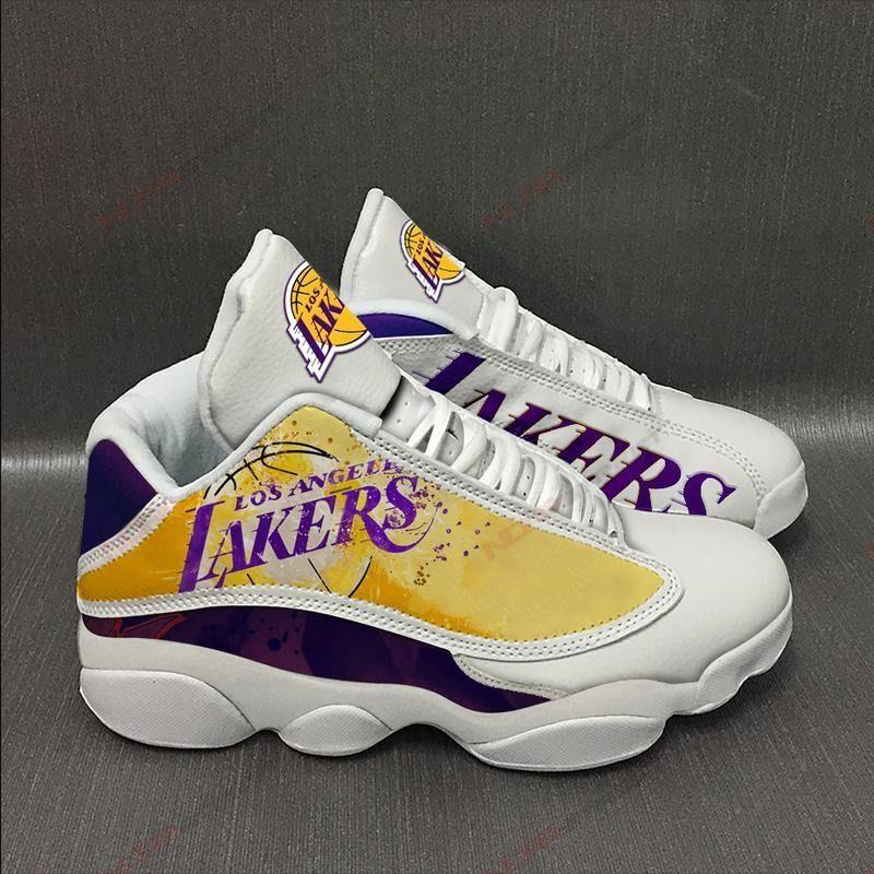Los Angeles Lakers Air Jordan 13 Sneakers Sport Shoes Plus Size