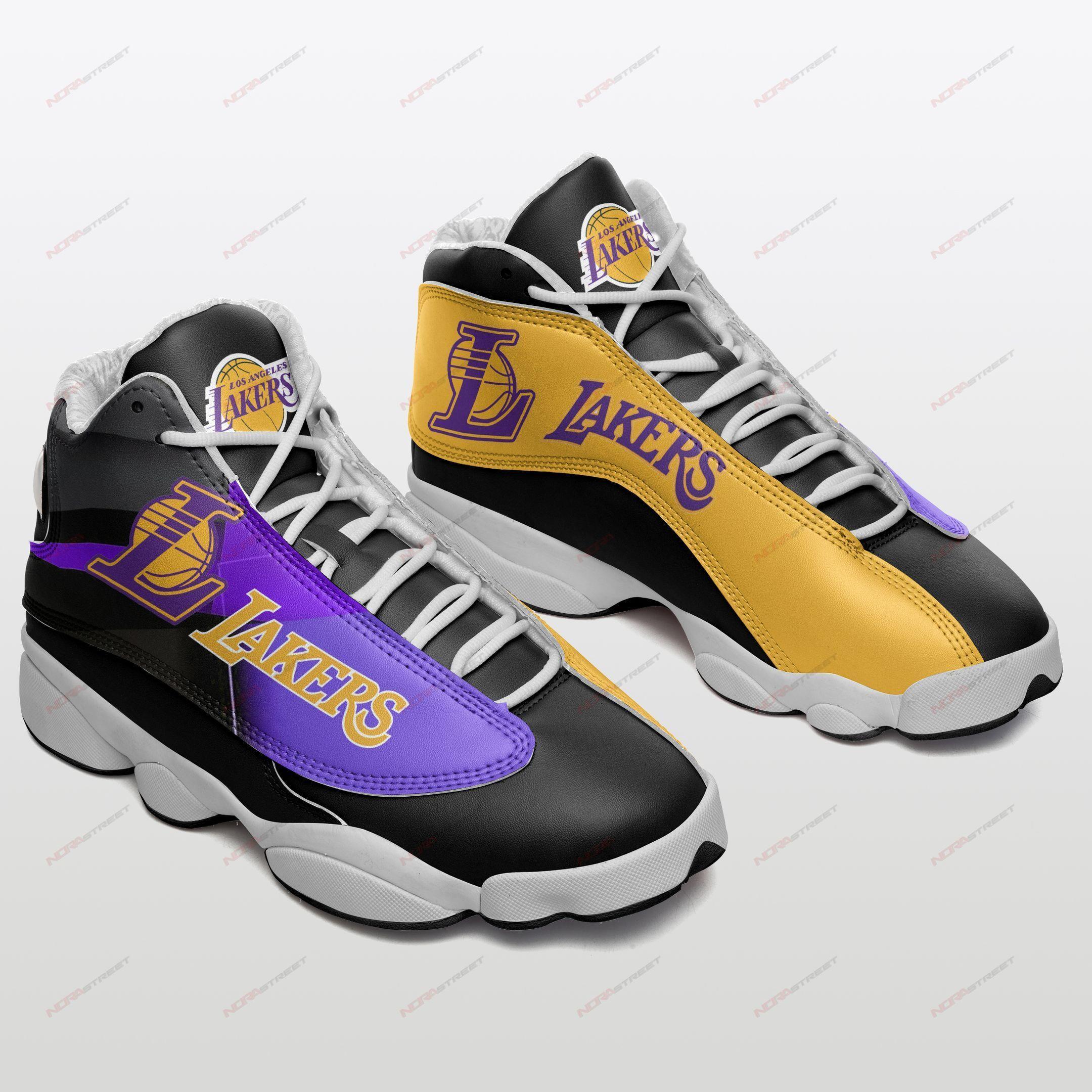Los Angeles Lakers Air Jordan 13 Sneakers Sport Shoes Plus Size