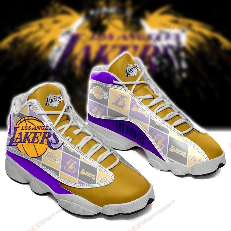 Los Angeles Lakers Air Jordan 13 Sneakers Sport Shoes