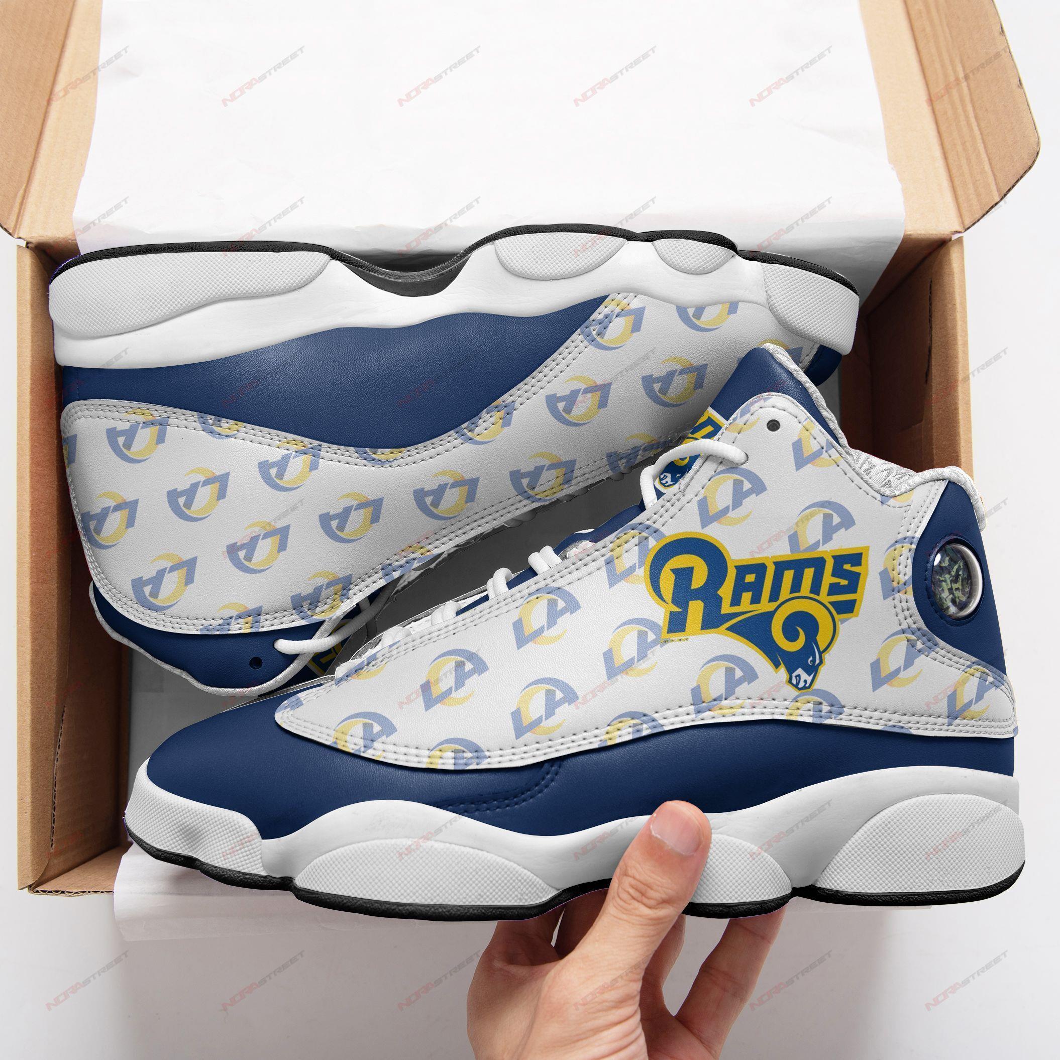 Los Angeles Rams Air Jordan 13 Sneakers Sport Shoes