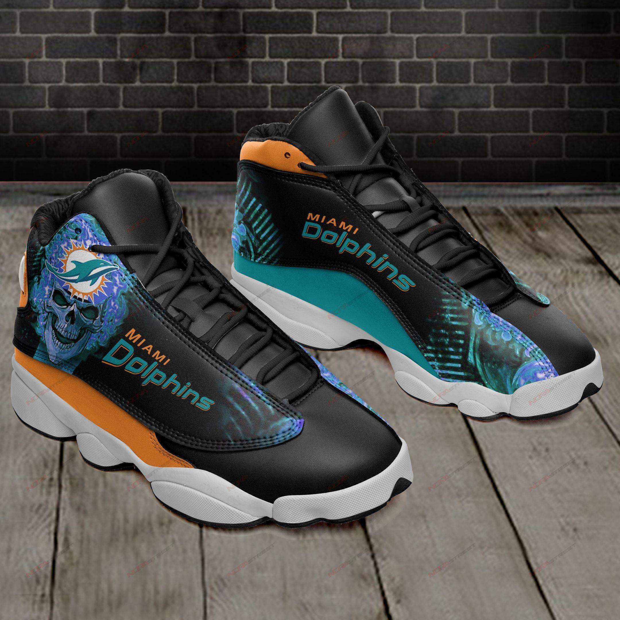Miami Dolphins Air Jordan 13 Sneakers Sport Shoes Plus Size
