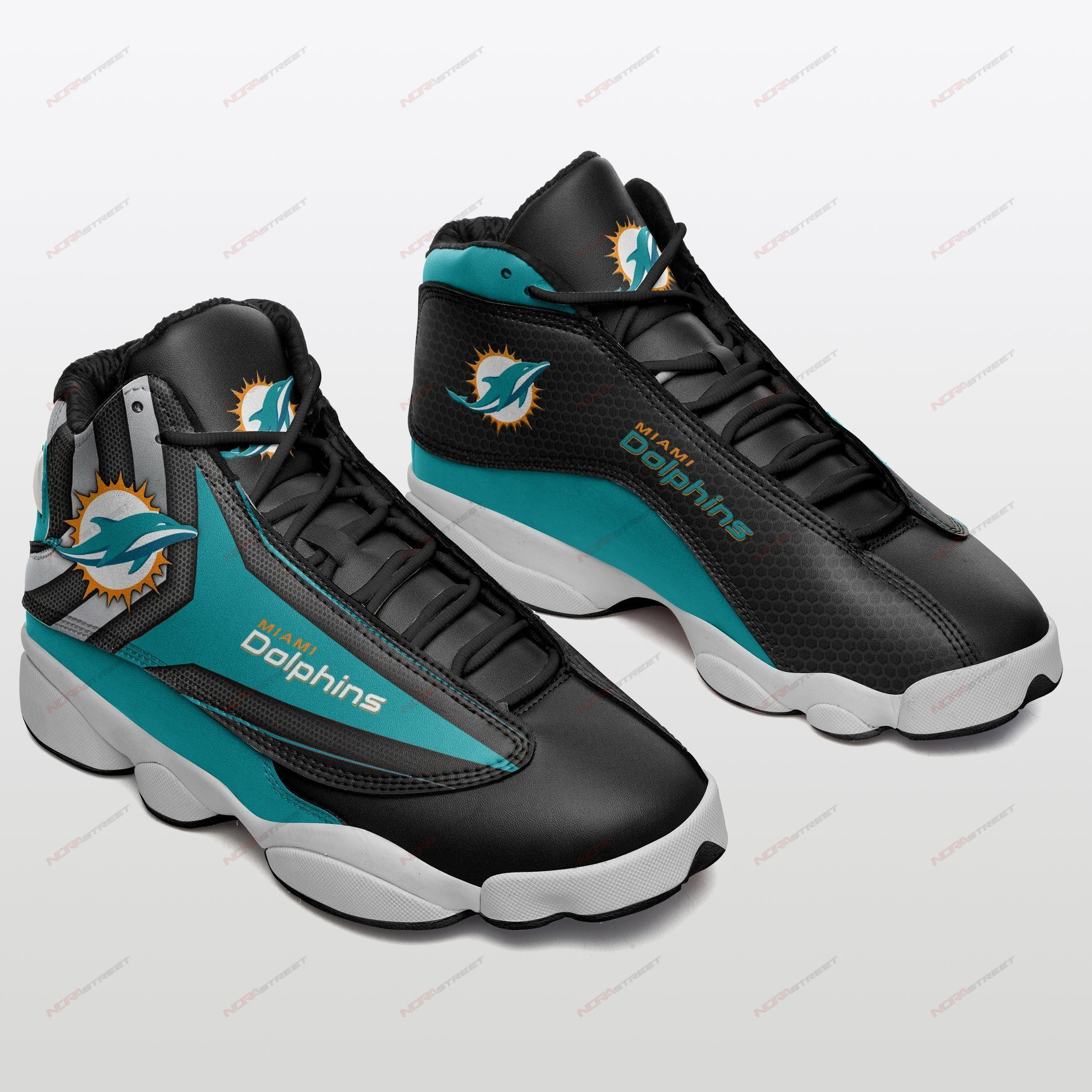 Miami Dolphins Air Jordan 13 Sneakers Sport Shoes Full Size