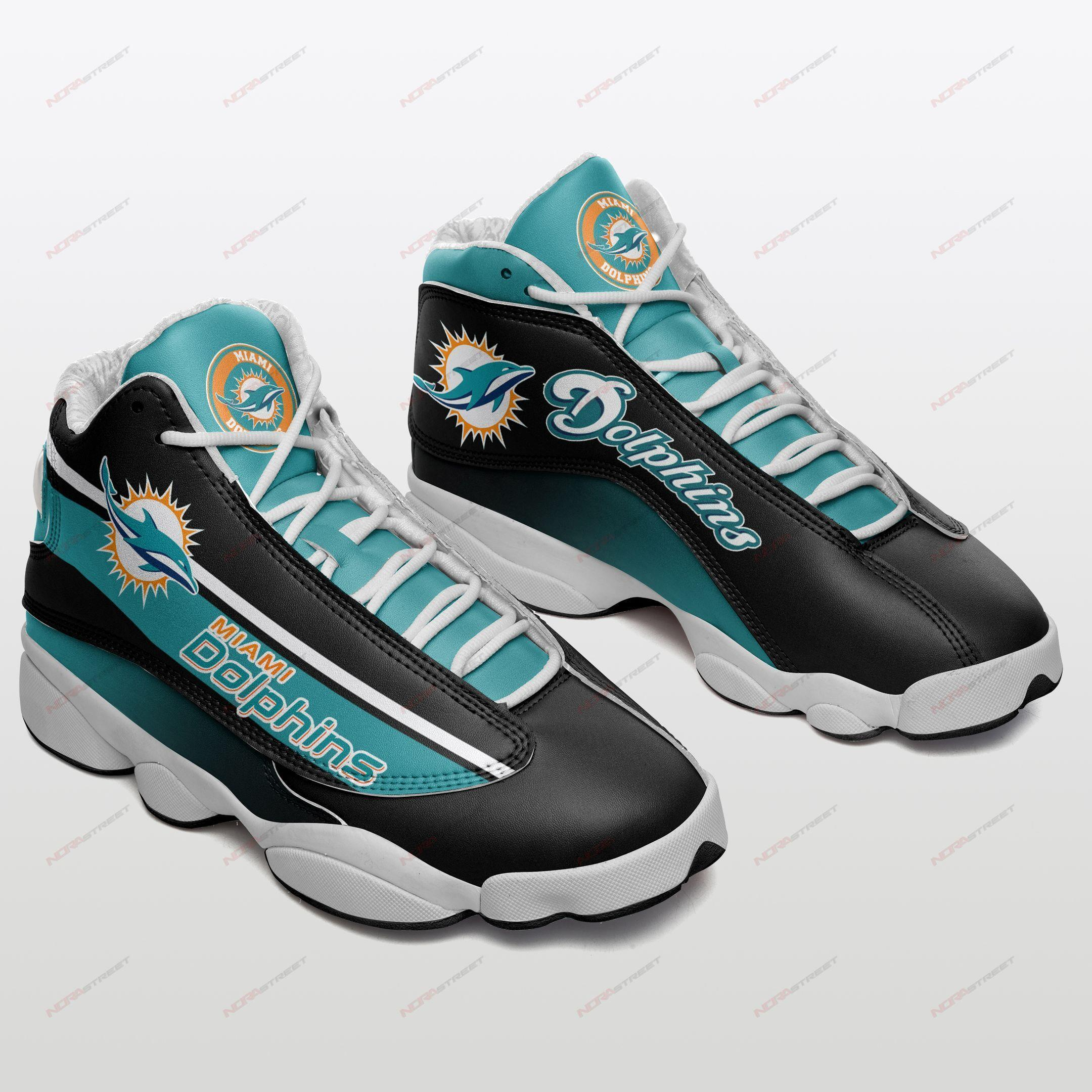 Miami Dolphins Air Jordan 13 Sneakers Sport Shoes Plus Size
