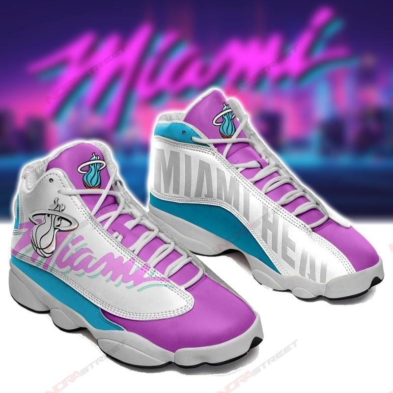 Miami Heat Air Jordan 13 Sneakers Sport Shoes Plus Size