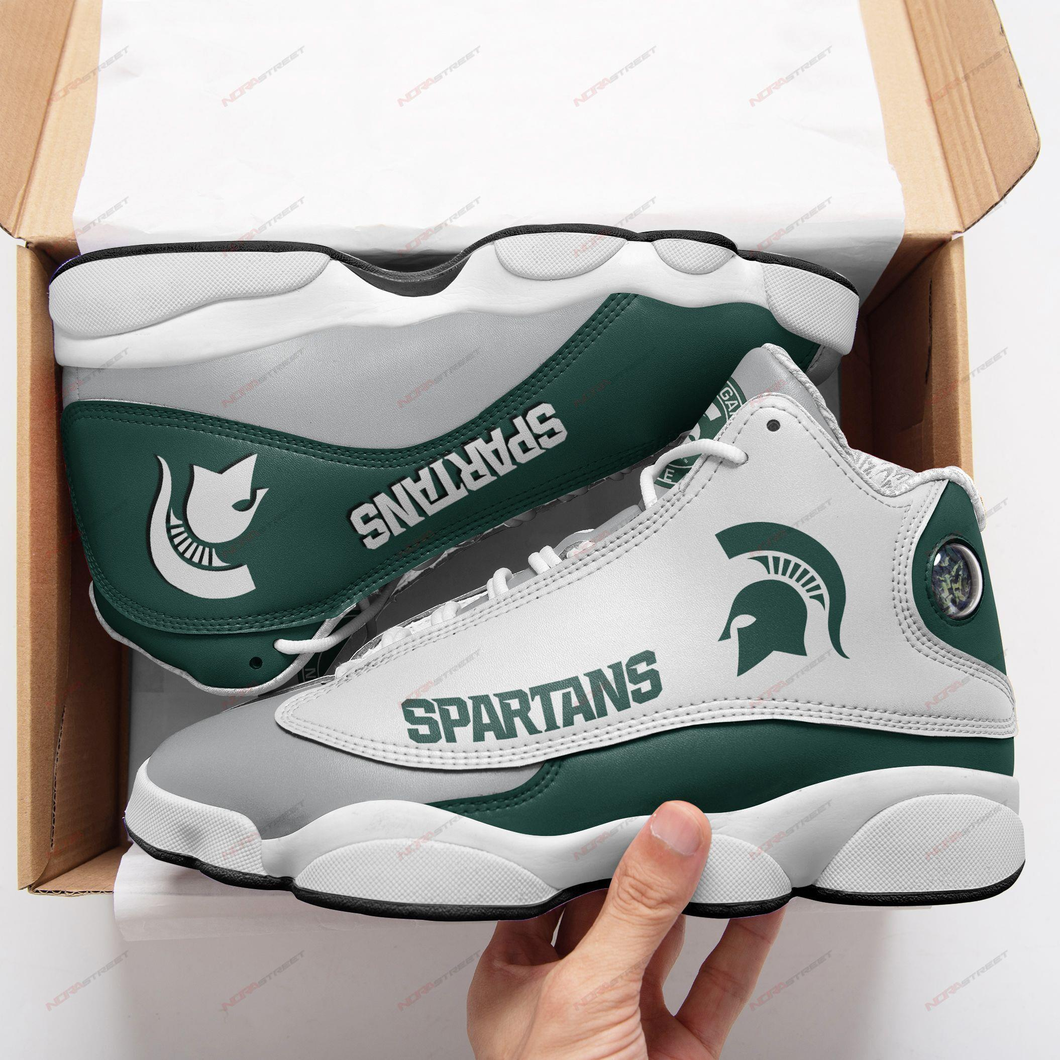 Michigan State Air Jordan 13 Sneakers Sport Shoes