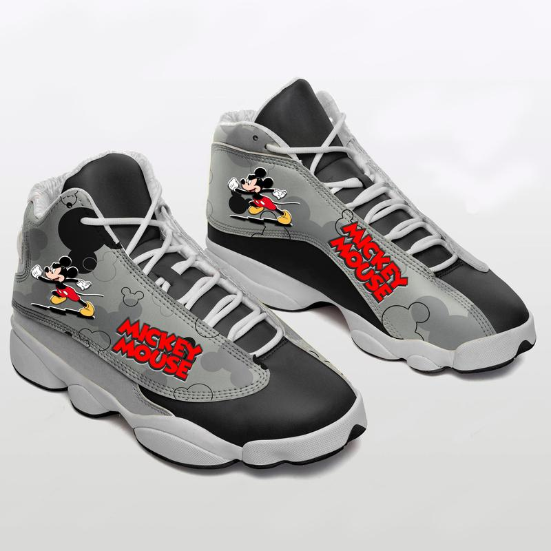 Mickey Mouse Form Air Jordan 13 Sneakers 2 Sport Shoes Plus Size