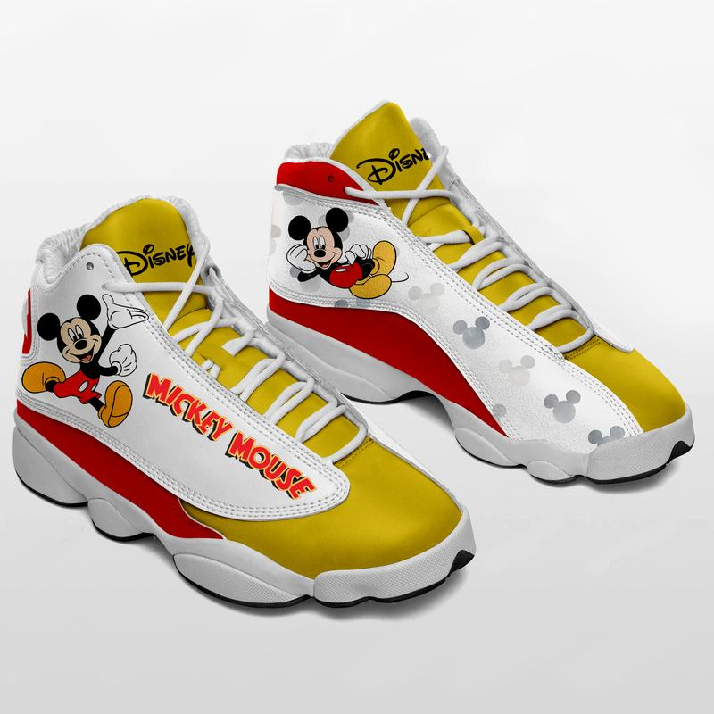 Mickey Mouse Form Air Jordan 13 Sneakers Disney Sneakers Sport Shoes Plus Size