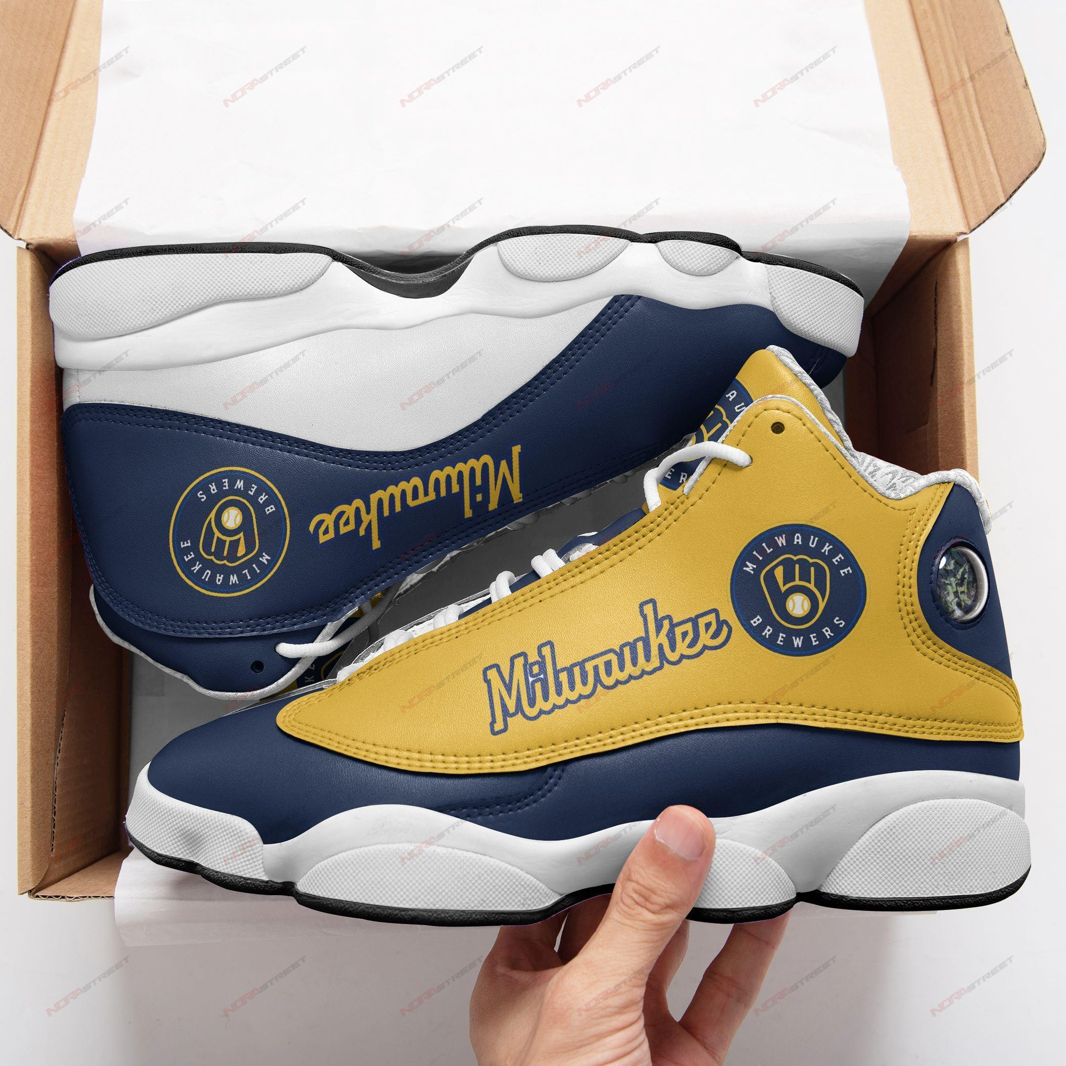 Milwaukee Brewers Air Jordan 13 Sneakers Sport Shoes