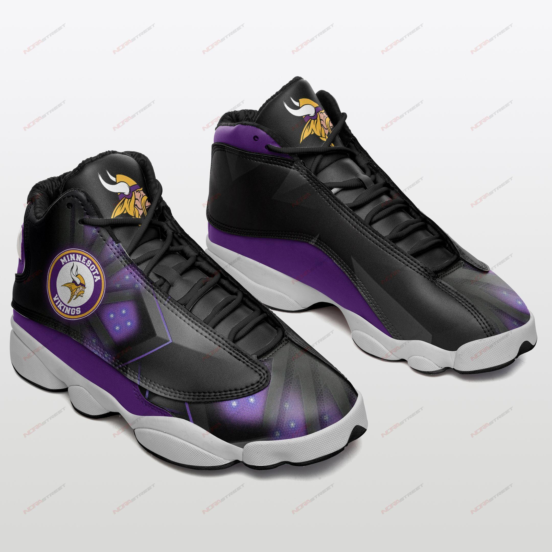 Minnesota Vikings Air Jordan 13 Sneakers Sport Shoes Full Size