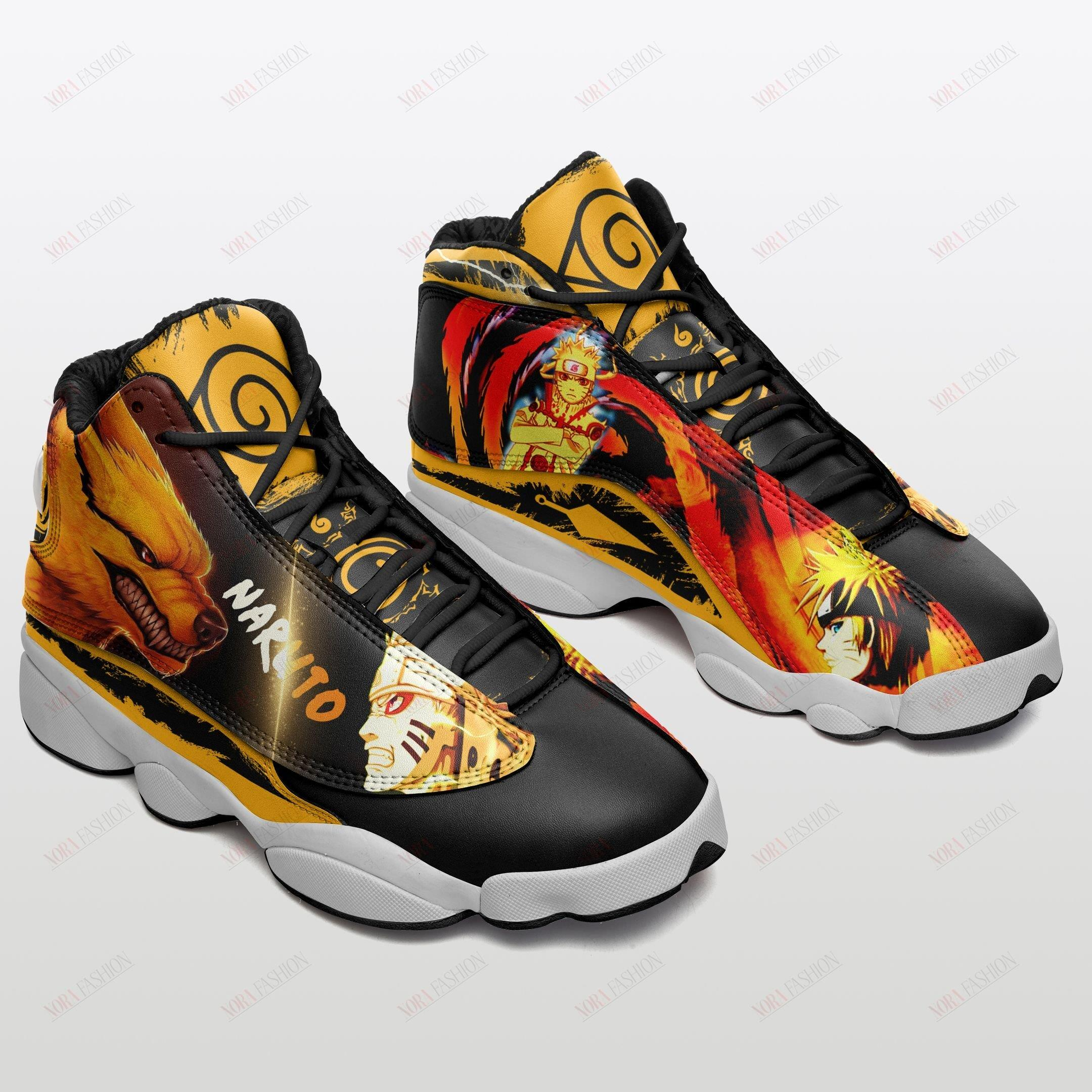 Naruto Air Jordan 13 Sneakers Sport Shoes Full Size