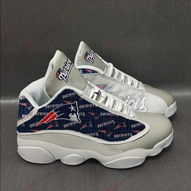 New England Patriots Air Jordan 13 Sneakers Sport Shoes Full Size