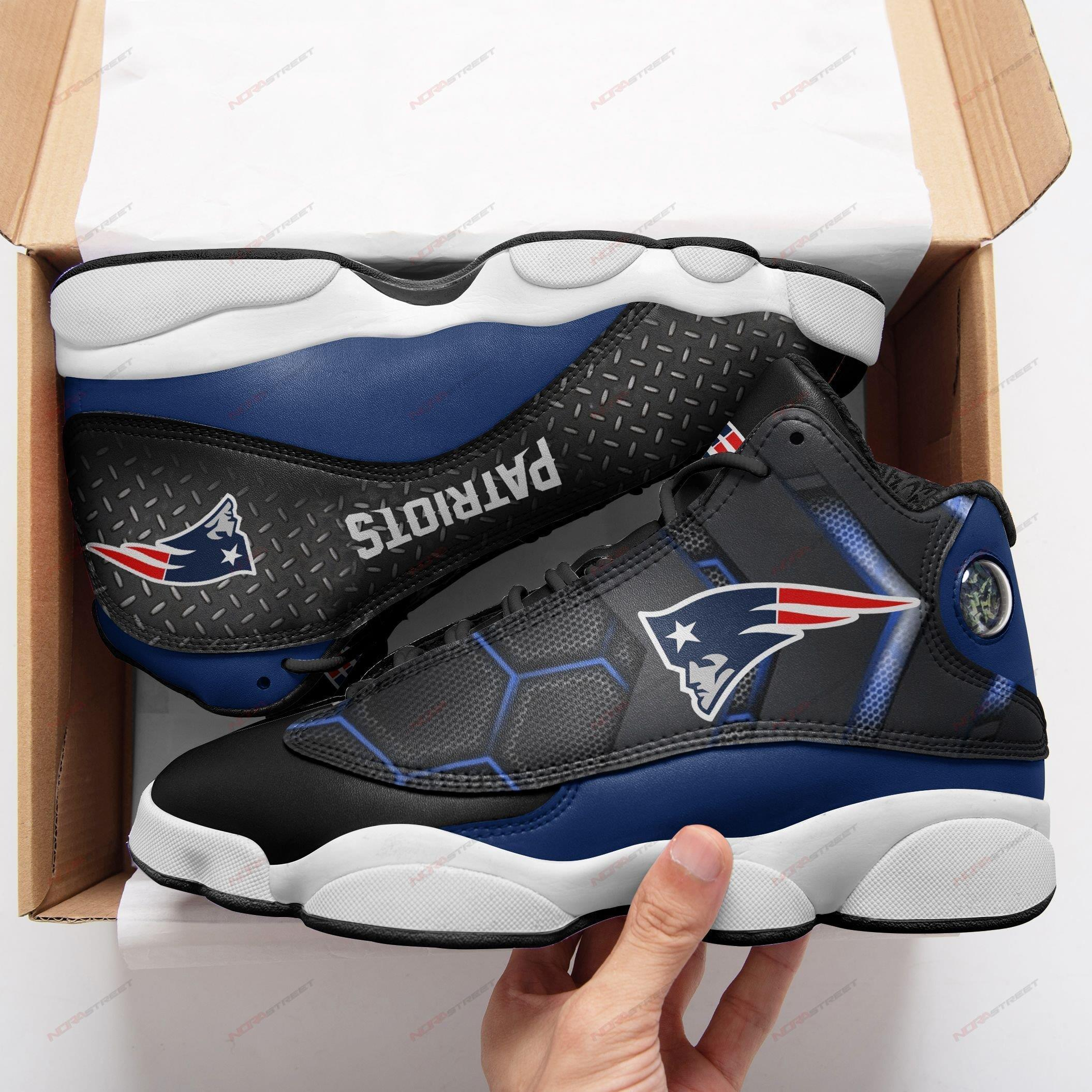 New England Patriots Air Jordan 13 Sneakers Sport Shoes Plus Size