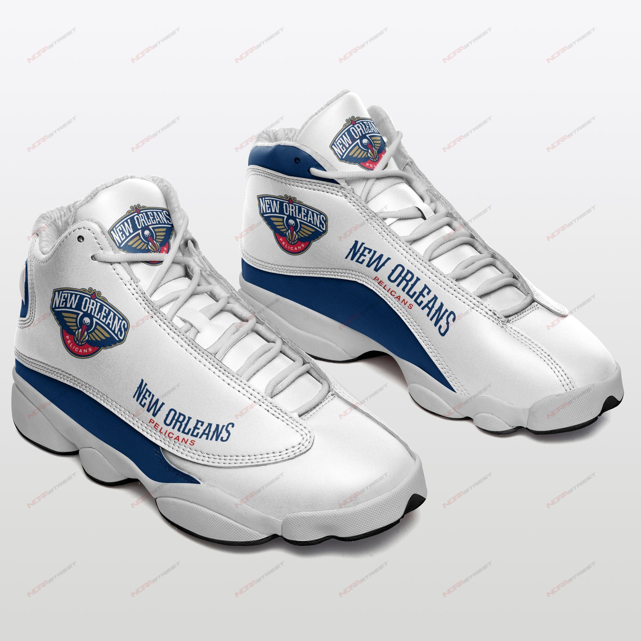 New Orleans Pelicans Air Jordan 13 Sneakers Sport Shoes Plus Size